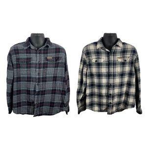 Field & Stream plaid flannel button down bundle